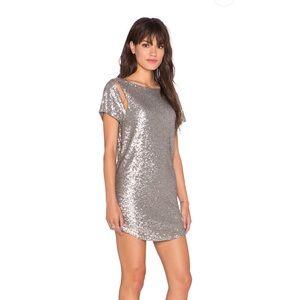Amuse Society Dresses - AMUSE SOCIETY MIDNIGHT SILVER SEQUIN DRESS